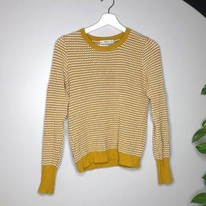 💫 3 for 30 💫 Zara Knit Mustard Geomtric Sweater